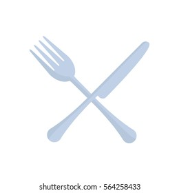 crossed fork and knife utensil kitchen vector illustration eps 10