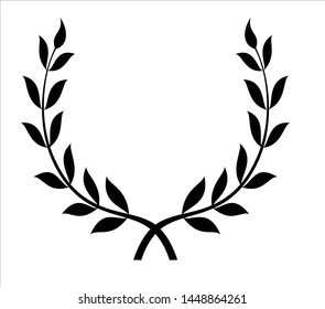 crossed laurel branches - a symbol of victory