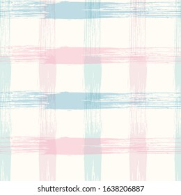 Crossed lines chequered pattern seamless stripes wallpaper. Tartan plaid pattern in purple, green, and pink for flannel shirt or other modern fashion clothing design.