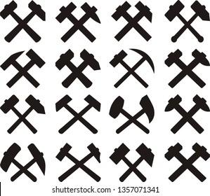 Crossed miners hammers