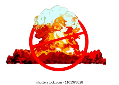 Crossed out nuclear explosion, International Day for the Total Elimination of Nuclear Weapons