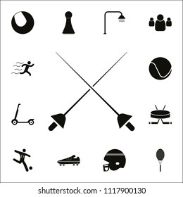 Crossed rapiers icon. Detailed set of Sport icons. Premium quality graphic design sign. One of the collection icons for websites, web design, mobile app