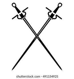 Crossed swords icon vector.