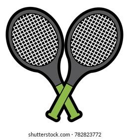 crossed rackets images stock photos vectors shutterstock rh shutterstock com Template of a Large Tennis Racquet Tennis Racquet Cartoon
