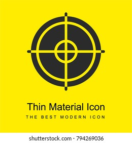 Crosshair bright yellow material minimal icon or logo design