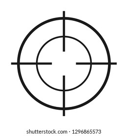 Crosshair flat vector icon. Modern illustration of crosshair symbol for web design .