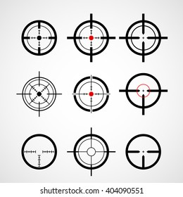 Crosshair (gun sight), target icons set