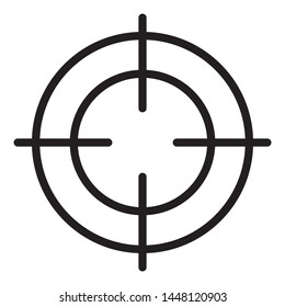 Crosshair icon / black and white, vector, isolated