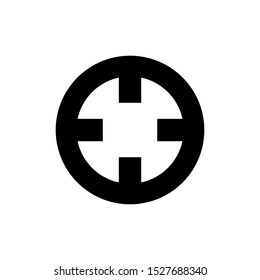 Crosshair icon. Outline crosshair vector icon for web design isolated on white background