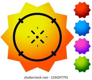 Cross-hair icon. Precision, accuracy, efficency concept icon