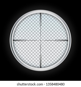 Crosshair icon. Realistic illustration of crosshair vector icon for web design isolated on white background