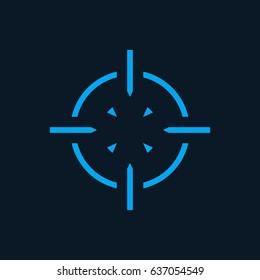 crosshair icon, symbol