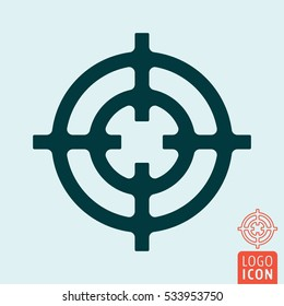 Crosshair icon. Target circle symbol. Vector illustration.