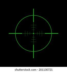Crosshair icon - Vector