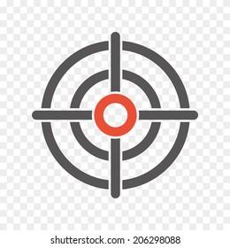 crosshair icon. vector eps8