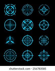 Cross-hair icons. Vector.
