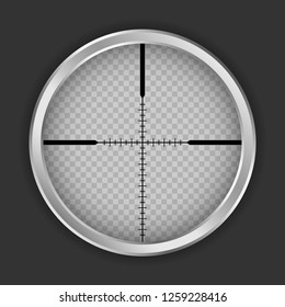 Crosshair shot icon. Realistic illustration of crosshair shot vector icon for web design