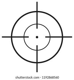 crosshair symbol illustration
