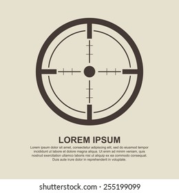 Crosshair, Target icon - Vector