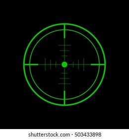 Crosshair, Target icon - Vector