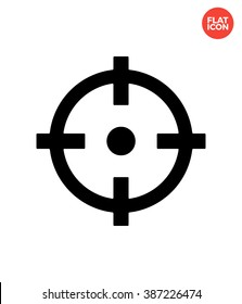 Crosshair vector flat icon