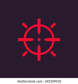 crosshair vector sign