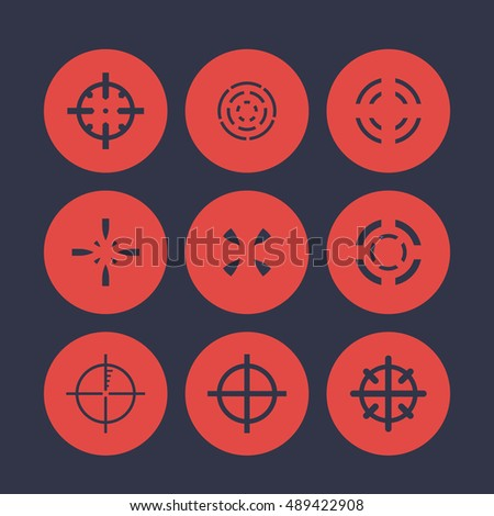 Crosshairs Elements For Game Design Vector Il Ration