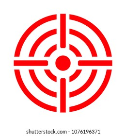 crosshairs icon - vector target aim, sniper symbol - weapon illustration