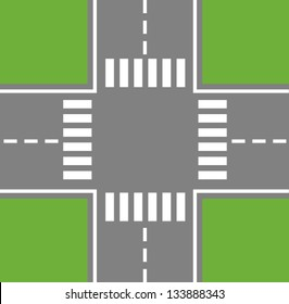Crossing Roads (Road Intersection with pedestrian crossings)