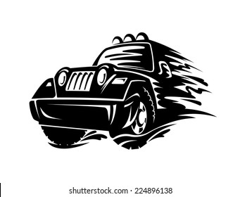 Crossover car for race sports design. Vector illustration