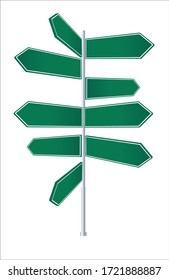 Crossroad signpost, way concept for lost, confusion or decisions