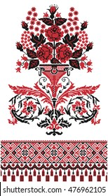 cross-stitch embroidery, ukraine ornament
