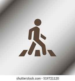 Crosswalk icon.