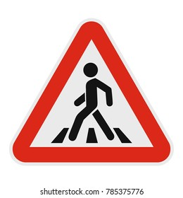Crosswalk icon. Flat illustration of crosswalk vector icon for web.