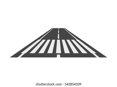 Crosswalk path, pedestrian crossing perspective view vector illustration, crossover isolated on white background