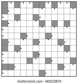 crossword blank crossword puzzle pattern horizontal stock vector