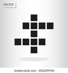crossword icon - vector illustration EPS 10, flat design icon