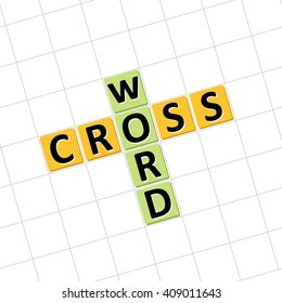 Crossword icon. Vector illustration. to solve crossword puzzles.