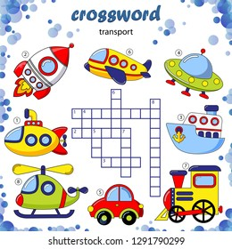 Crossword puzzle game of transport
