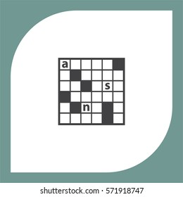 Crossword Puzzle vector icon. Leisure game symbol.