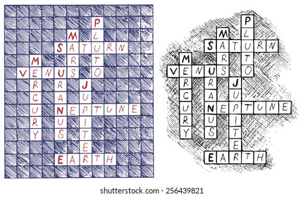 Crosswords on the subject of astronomy