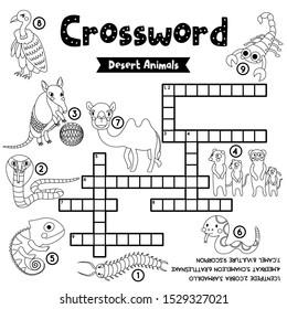 crosswords puzzle game desert animals 260nw