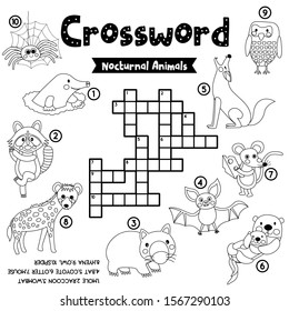crosswords puzzle game nocturnal animals 260nw