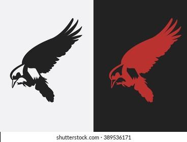 Crow raven flat logo