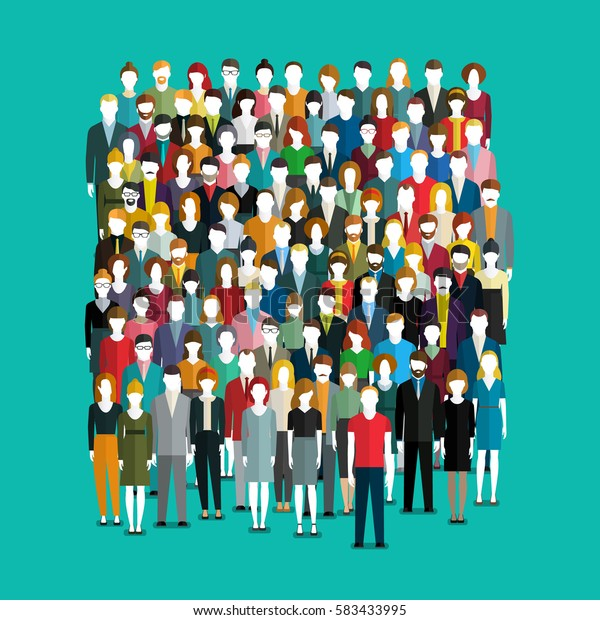 crowd abstract people flat design vector stock vector royalty free 583433995 https www shutterstock com image vector crowd abstract people flat design vector 583433995