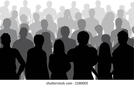 Crowd close up - vector
