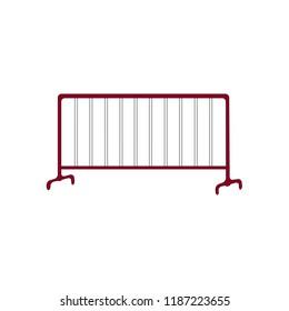 crowd control barrier, vector illustration.