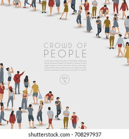 Crowd of People on White Background : Vector Illustration - Shutterstock ID 708297937