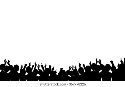 A crowd of people. Vector illustration
