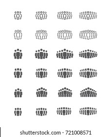Crowd signs. People group vector icon set. People symbols for info graphics, logo, design.
